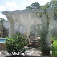 Make Your own Misting System Patio Misting Kit Assembly 24Ft - 4 Nozzles Easy to Build and Install 5 Minute Installation mistcooling