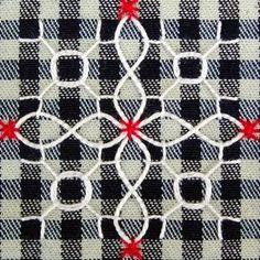 """Милые сердцу штучки: Техники вышивания. Часть 12: """"Вышивка на клетчатой ткани или Chicken scratch embroidery"""""""