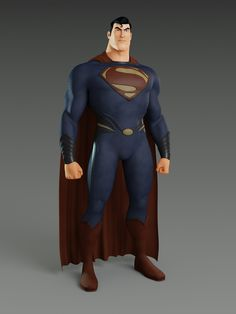 """MAN OF STEEL Pixar Style.  Wow.  We may get a """"Pixar Style"""" Marvel movie (soon I hope, even if my heart is still with 2D animation.  But this is amazing."""