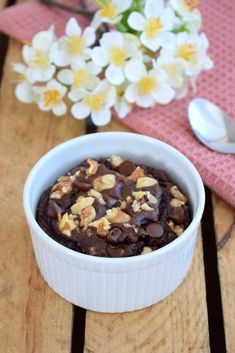 Banana Bread Chocolat & Peanut Butter - Mes envies et moi Healthy Muffin Recipes, Vegetarian Breakfast Recipes, Healthy Muffins, Mug Dessert Recipes, Mug Recipes, Easy Recipes, Brownie Bowls, Brownie Cake, Brownies