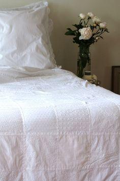 Patchwork Quilt- White