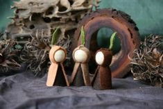 Root Children Waldorf Inspired natural Table peg doll. $21.00, via Etsy.
