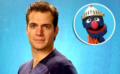 When Superman met Super Grover: Henry Cavill visits 'Sesame Street' — EXCLUSIVE PHOTO | EW.com