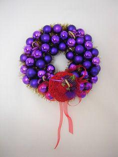 Purple Christmas Wreath