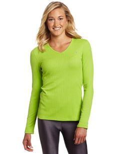Asics Women's Rib I Tech Long Sleeve Top, Greenery, Small