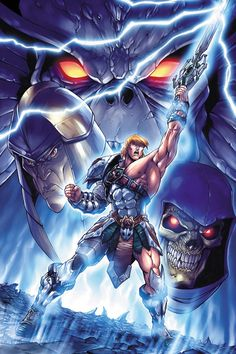 cartoons icons Masters of the Universe Comic cover: Volume 3 - Issue Art by Emiliano Santalucia and Colour by Jeremy Roberts. He Man Desenho, Comic Books Art, Comic Art, He Man Thundercats, Vikings, Cult, Male Cosplay, She Ra Princess Of Power, 90s Cartoons