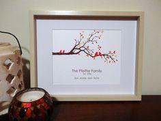 Personalized Family Tree Custom Anniversary Gift by MDesignCompany, $20.00