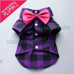 Fitwarm Handsome Boy Dog Clothes Comfy Dog Shirt Bow Tie Gift Puppy Polo Apparel