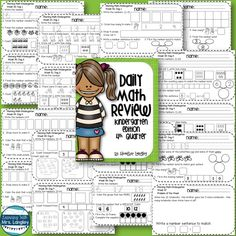 Daily Math Review for Kindergarten Quarter 4 includes 5 questions each day. This comprehensive math review is aligned to Common Core Standards and provides daily practice for little learners. Also included is a Problem of the Week to use in a math journal or on its own.  This is a great way to get little minds warmed up for math!