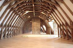 Musée de Rochechouart Wood Architecture, Limousin, Wood Work, Tudor, Dream Homes, Rum, Gothic, Woodworking, Ceiling