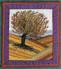 art quilt---ooooo...I LOVE this one!!!  You could do one for every season!! :)