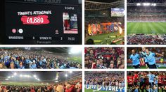 Scenes from an exhibition. Sydney FC turned it on on-the-field with a 0-4 'blue'wash of Western Sydney Wanderers, but 61,880 fans turned it on off-the-field. It is the largest crowd at a domestic football game. Ever. And its onwards and upwards for football.  09.10.16