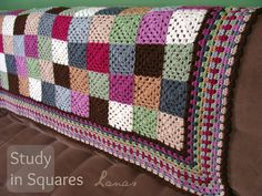 Lanas de Ana: Blanket: Study in Squares - including graphic pattern for edging