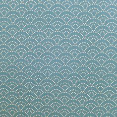 Tissu japonais bleu de prusse motifs de vagues seigaiha (110cm x 50cm) : Tissus à thème par couleurs-japon