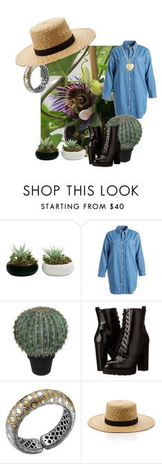 """""""In the garden"""" by tessa-janson ❤ liked on Polyvore featuring Chocoolate, Abigail Ahern, Report, John Hardy, Janessa Leone and Finn"""