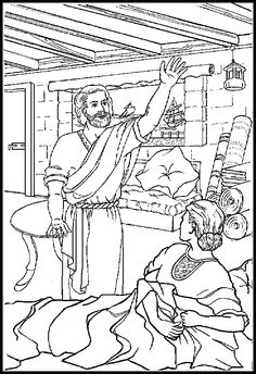 Peter Helps Dorcas Coloring Pages Coloring Pages Dorcas Coloring Page