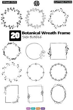 Botanical Wreath Frame, Botanical Wreath Frame SVG, Botanical Wreath Frame Bundle dxf, Botanical Wreath Frame Bundle, Botanical Wreath Frame bundle SVG, Cricut Designs, Silhouette Design instant DIGITAL ****************** Features : Use our files for Silhouette, Cricut and other cutting software to make iron-on decals, prints, shirts, wall decals and more! Files can be used as clip art for scrap Botanical Wreath Frame and other applications! and use any other Printing Media. Easy Use for