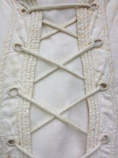 c1820 corded stays/ corset. Cording detail. Books of the whole Sylvestra Regency Fashion collection available! http://www.blurb.co.uk/search/site_search?search=sylvestra+regency