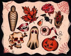 Halloween Flash - Ink It Up - Traditional Tattoos