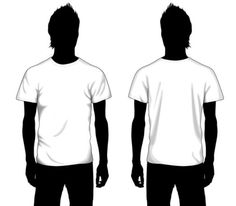 Vector Boys T-shirt Template Front and Back T Shirt Design Template, Fashion Design Template, Design Templates, T Shirt Clipart, Design Kaos, Clothing Packaging, Photo Sculpture, Shirt Mockup, Free Vector Art