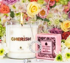 """Mother's Day Giveaway: Win a Gift set for Mom (LUXE Cherish Candle and """"Love Mom"""" Pendant)"""