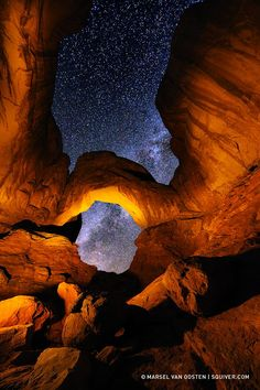 """500px / Photo """"Portal to the Stars"""" by Marsel van Oosten; Double Arches, Arches National Park, Utah"""
