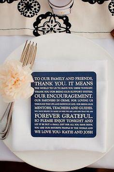 Amazing idea to say thank you to all that got you to that wedding. #WeddingFavorIdeas