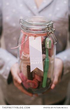 Pyjama Party Pamper Pack Printable - The Pretty Blog