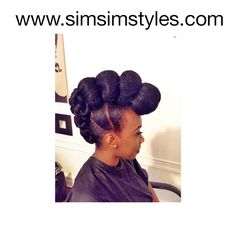 Natural hair Natural Hair Updo, Natural Hair Styles, Updos, Hairdos, Protective Hairstyles For Natural Hair, Stylish Hairstyles, Up Dos, Up Dos, Natural Updo