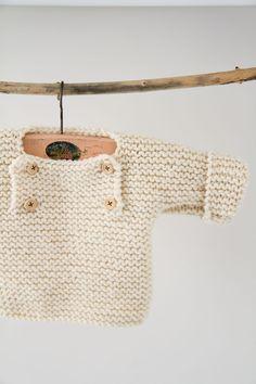 les tricots de Granny: pull boutonné devant