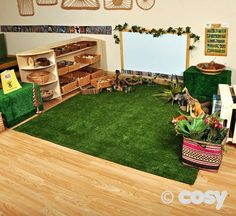 GRASS SQUARE Create grassy areas inside or out with this large grass square. Ideal for creating sitting spaces in busy playgrounds. Try surrounding it with low planters/ plant pots or planted tyres to create a green space. Preschool Classroom Layout, Eyfs Classroom, Preschool Rooms, Toddler Classroom, Preschool At Home, Classroom Setting, Classroom Design, Classroom Decor, Reception Classroom Ideas