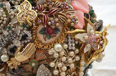 milti brooch bouquet, vintage brooches, tillymintloves