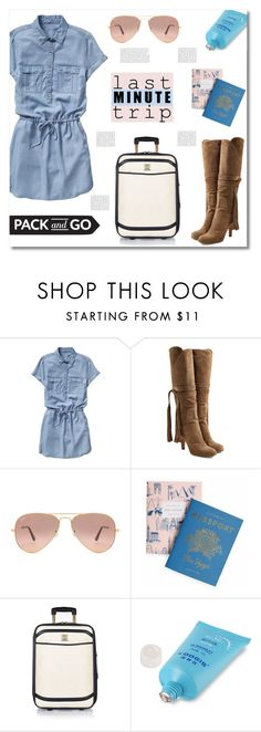 """""""Last Minute Trip"""" by asiyaoves ❤ liked on Polyvore featuring Gap, Chloé, Ray-Ban, Rifle Paper Co and River Island"""