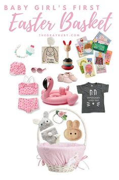 baby first easter basket - easter basket ideas for girls - easter presents for a baby - unique easter ideas