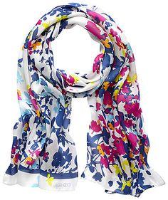 Scarf by Kenzo #scarf #kenzo #engelhorn #flowers http://fashion.engelhorn.de/