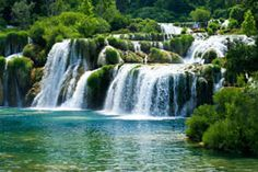 Explore Croatia by train with the Croatia Rail Pass. Train travel in Denmark is the best way to see the country side of Croatia and cities. Nature Landscape, Landscape Paintings, Croatia Travel Guide, Image Nature, Nature Nature, River Painting, World Pictures, Beautiful Waterfalls, Paisajes
