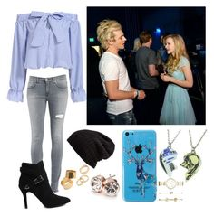 """""""Hanging Out With Ross Lynch & Dove Cameron"""" by wont-stop-loving-queen-rydel ❤ liked on Polyvore featuring Dondup, Free People, R2, GUESS, Pieces and FOSSIL"""