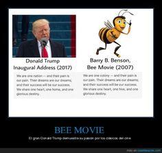 1033722 - Donald Trump plagia en su discurso inaugural un párrafo de BEE MOVIE