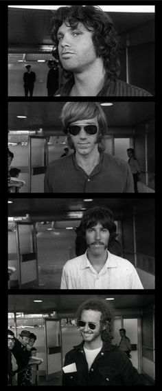 The Doors. Jim Morrison (vocalist), Ray Manzarek (organist), John Densmore (drummer) & Robby Krieger (guitarist).