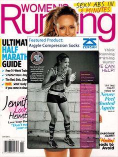 Argyle Compression Socks in Womens Running Magazine!