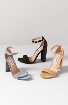 cfbba3496e7 Steve Madden Carrson Sandal Grey Heeled Sandals