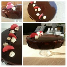 Chocoladebavarois praline taart