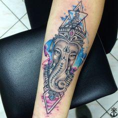 Galactic Ganesha tattoo / Ganesha tattoo / Ganesha tatuaje / watercolor tattoo by Felipe A. Tapia
