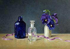 Het blauwe flesje 2003 (22,5 x 32 cm) ; Ingrid  Smuling