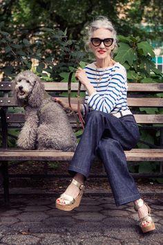 The trendiest old lady in fashion: Linda Rodin Streetwear Mode, Streetwear Fashion, Looks Style, Style Me, Mode City, Girl Fashion, Fashion Outfits, Fashion Design, Cooler Look