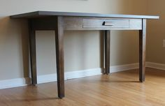 This table could be used for a desk, work table, dining table or even a kitchen island! Farm Table, Table Desk, House, Table, Entryway Tables, Farmhouse Desk, Work Table, Home Decor, Desk