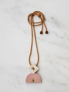 Pale Pink Monument Necklace by Wolf & Moon