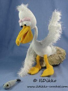 Пабло Пеликан – Амигуруми крючком узор |