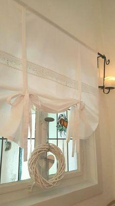 Gardine Raffrollo Spitze weiß 60/90/110/130/150 x 120cm Landhaus Shabby Vintage  | Möbel & Wohnen, Rollos, Gardinen & Vorhänge, Jalousien & Rollos | eBay!
