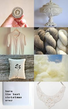 Christmas is White by PT Team by Vânia O. on Etsy--Pinned with TreasuryPin.com #PTteamEtsy #ChristmasColorsProject #EtsyEurope #Portugal